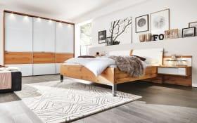 Schlafzimmer 1202 in Eiche Dekor/Glas weiß