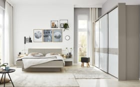 Schlafzimmer 1009 in kieselgrau/weiß