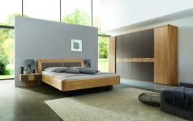 Schlafzimmer WSM 2000 in Wildeiche soft gebürstet/Mattglas siena