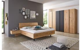 Schlafzimmer WSM 2600 in Wildeiche soft gebürstet/Mattglas carbon