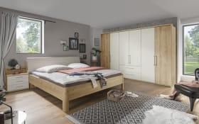 Schlafzimmer Kanada 2 in Bianco Eiche-Optik/champagner