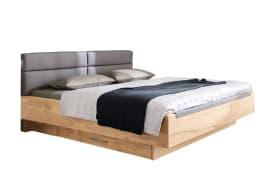 Doppelbett Minto in Balkeneiche furniert/Lack sand