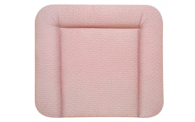 Wickelauflage Raute in rosa/weiß