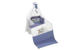 Bettset Bärenkinder in blau/weiß in 100 x 135 cm