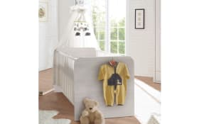 Babybett Corner in Pinie weiß/Trüffe-Optik