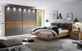 Schlafzimmer Delta in Wildeiche-Nachbildung/basaltgrau