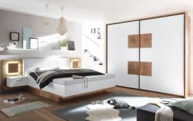 Schlafzimmer Rimini in weiß/Wildeiche-Optik