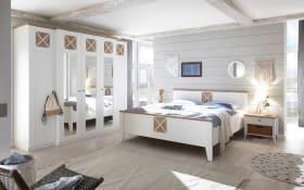 Schlafzimmer Siena Dekorfolie weiß/Riviera Eiche-Optik