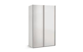 Schwebetürenschrank Budget 2 in weiß, B/T ca. 125 x 48 cm