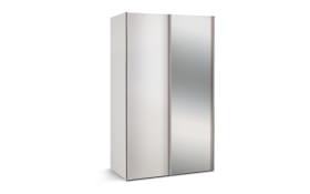 Schwebetürenschrank Budget 2 in weiß, B/T ca. 125 x 68 cm