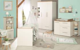 Babyzimmer Eve in weiß/Goldeiche-Optik
