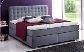 Boxspringbett Isa in grau
