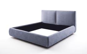 Polsterbett Atesio in blau, ohne Matratze und ohne Lattenrost
