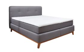 Boxspringbett 1406 in taupe