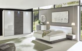 Schlafzimmer 4002 in weiß hochglanz