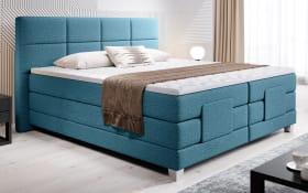 Boxspringbett 4019 in Malmo 85 blau, inklusive Bettkasten, Liegefläche ca. 160 x 200 cm