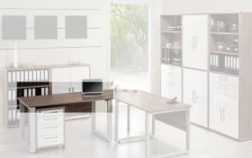 Büromöbel-Programm Contact - Schreibtischplatte in Trüffel-Eiche-Nachbildung 150 x 80 cm