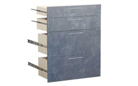 Büromöbel-Programm Contact - Schubladenset in Betonoptik