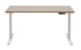 Schreibtisch 7001 in Eiche Trüffel sägerau Nachbildung, ca. 150 cm breit