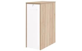 Anstellcontainer 7001 in Edelbuche Nachbildung-Lack weiß Spiegelglanz, ca. 115 cm hoch