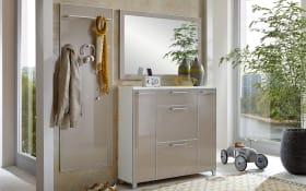 Dielen-Garderobe Santina in taupe/weiß