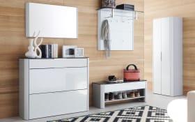 Dielengarderobe Studio in weiß
