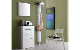 Dielengarderobe Studio in Alu-Optik/weiß