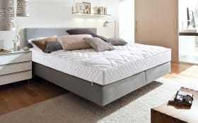 Boxspringbett in grau