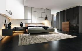 Schlafzimmer Gentis in Lack-Hochglanz grau