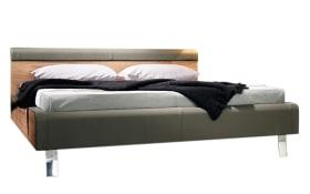 Bett Gentis in Lack-Hochglanz grau