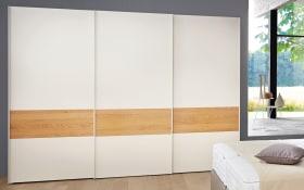 Kleiderschrank Multi-Forma in Lack weiß/Natureiche Applikation