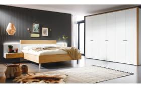 Schlafzimmer Citada in weiß/Eiche Naturstamm