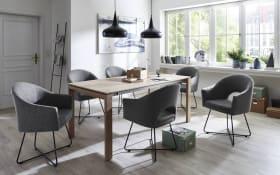 Stuhlgruppe S81-VU/T79 aus Natureiche bianco/grau