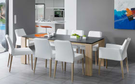 Stuhlgruppe Kenzie/Cardiff in weiß/Eiche natur massiv