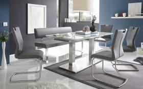 Stuhlgruppe Milano / Nova in weiß / grau