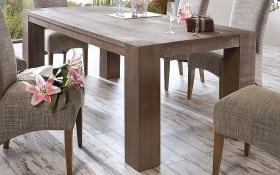 Tisch Skagen in taupe/Eiche massiv