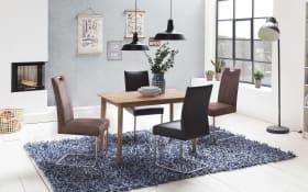 Stuhlgruppe Samiro/Bonny aus Buche/dunkelbraun/schwarz