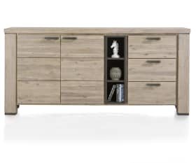 Sideboard Coiba in Akazie-Tibet-Grey massiv