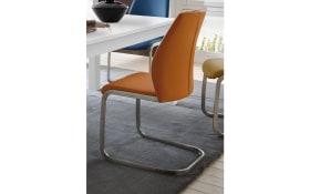 Stuhlgruppe -  Schwinger in vielen Farben, Esstisch in weiß