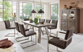 Stuhlgruppe Vintage Dining/Vinta aus Balkeneiche Earl grey