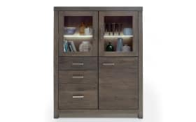 Highboard Vintage Dining aus Balkeneiche Earlgrey
