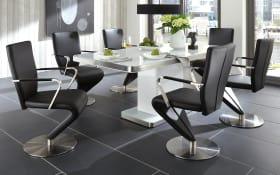 Stuhlgruppe in weiß/schwarz