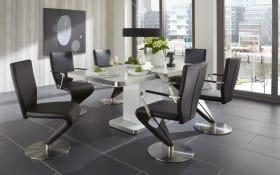 Stuhlgruppe 7441/7442/7453 In Schwarz/weiß