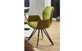 Design-Armlehnstuhl Merlot in venice green
