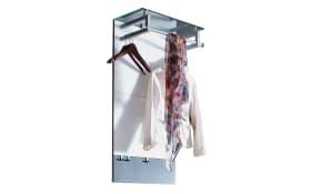 Garderobenpaneel Gloss in weiß/anthrazit