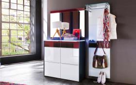 Garderobenkombination Gloss in weiß