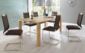 Stuhlgruppe Lilli/Multiflex in mocca/ Wildeiche
