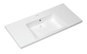 Mineralmarmor-Waschtisch Fokus 4015 in weiß