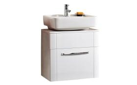 Waschbeckenunterschrank Fokus 3005 in Lack weiß Hochglanz