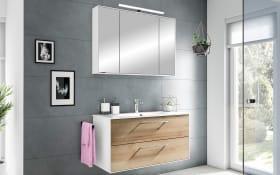 Badeinrichtung Fokus 3065 in Riviera Eiche-Optik/weiß